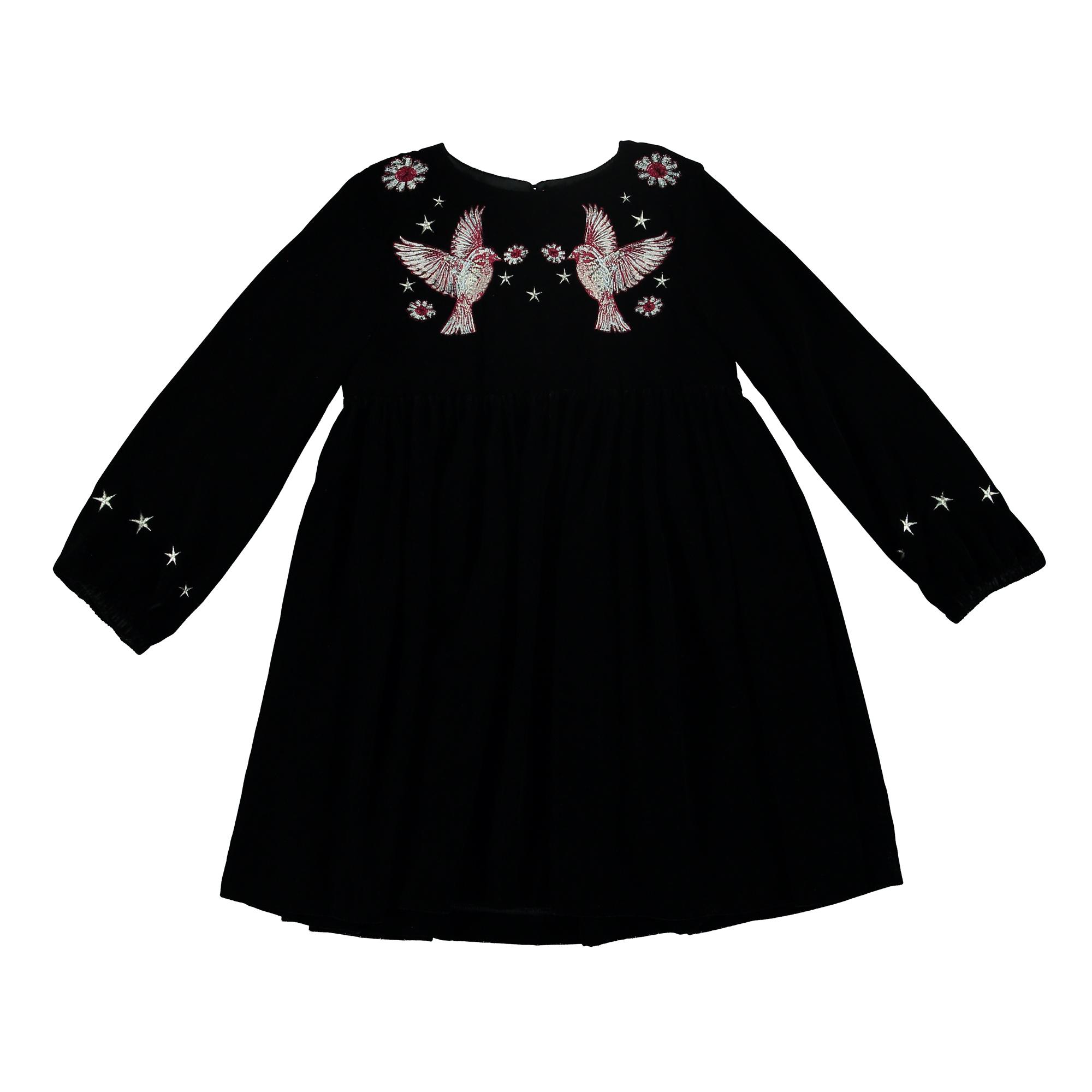 Schwarz Blaues Kleid Original
