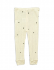 MINI RODINI Leggings Wolle Peace - offwhite