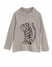 MINI RODINI Woll Langarmshirt Tiger - grey