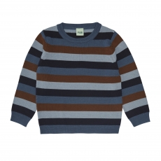 FUB Woll Pullover - navy dusty green umber