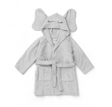 LIEWOOD Bademantel Rabbit - dumbo grey