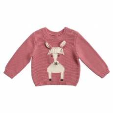 STELLA MCCARTNEY KIDS Pullover Horse - rose