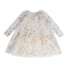 STELLA MCCARTNEY KIDS Tüllkleid - creme gold