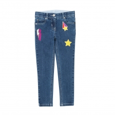 STELLA MCCARTNEY KIDS Jeans Badges - blue