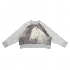 STELLA MCCARTNEY KIDS Sweatshirt Horse grau