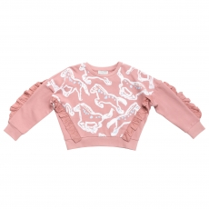 STELLA MCCARTNEY KIDS Sweatshirt Horse rose