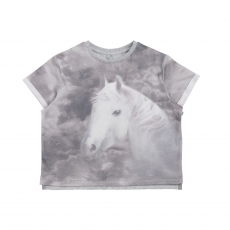STELLA MCCARTNEY KIDS T-Shirt Horse - grau