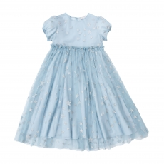 STELLA MCCARTNEY KIDS Tüllkleid - blau silber