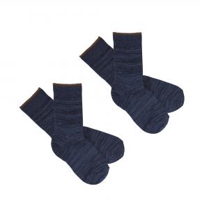 FUB Socken Wolle 2er Packung - navy