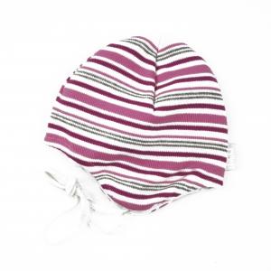 DÖLL Baby Bindemütze Streifen - pink