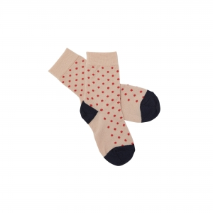 FUB Socken Wolle - blush red