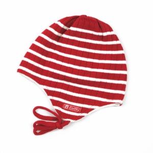DÖLL Bindemütze Streifen - rot