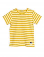 MINI RODINI T-Shirt Rib Streifen - gelb