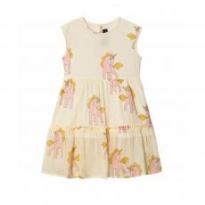 MINI RODINI Kleid Unicorn lang - yellow