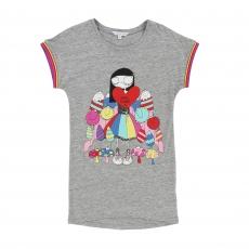LITTLE MARC JACOBS T-Shirt Kleid - graumeliert