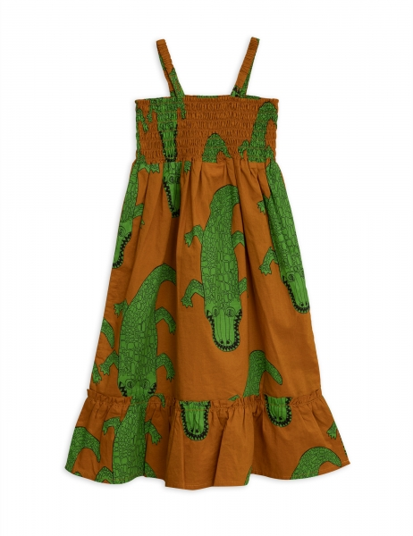 MINI RODINI Kleid Croco - brown