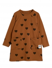 MINI RODINI Kleid Hearts - brown