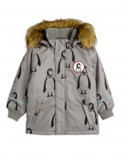 "MINI RODINI Winterjacke ""K2"" Penguin - grey"